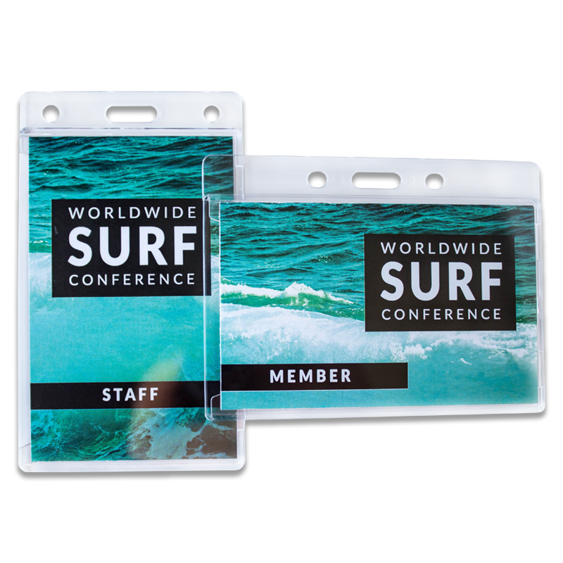 Hard Plastic Acrylic Badge Holder With Slot