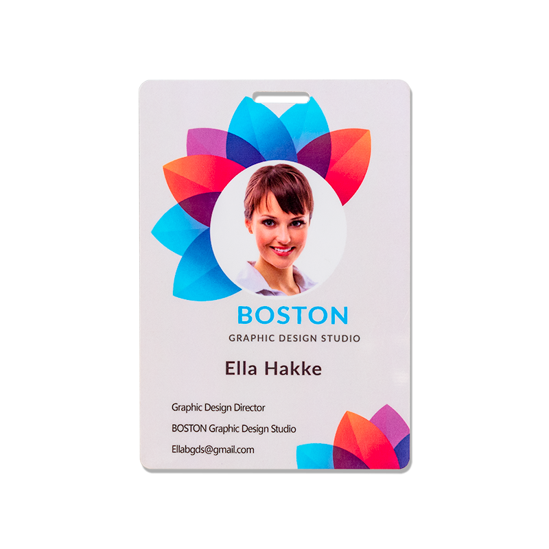 Full Color Printed PVC Cards - 2.75 X 4 Inch