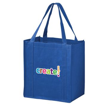 12 x 8 x 13 Inch Full Color Recession Buster Non-Woven Grocery Totes