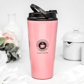 17 Oz. Custom Printed Travel Coffee Tumblers With Handle