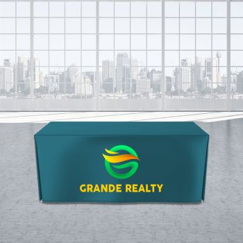 6FT Open Corner Trade Show Table Cover - Full Color Imprint