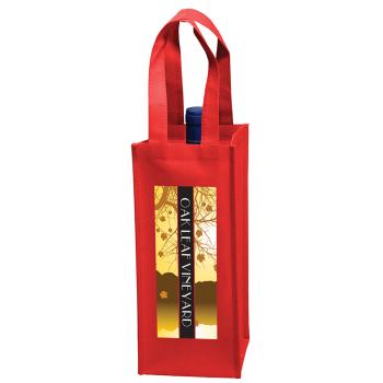 Non-Woven Wine Tote Bag - Full Color