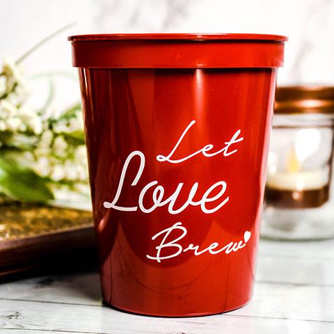 Custom Wedding Stadium Cups - Personalized Wedding Party Favors - Wedding Party Favor