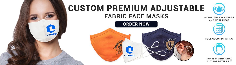 Custom Premium Adjustable Fabric Face Masks