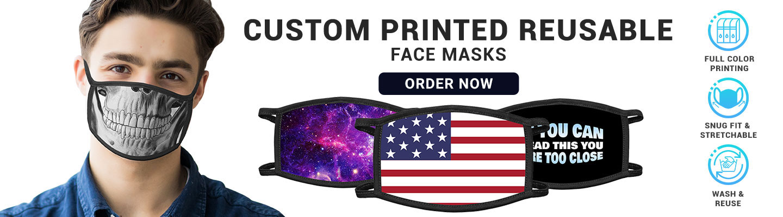 Custom Printed Reusable Fabric Face Masks